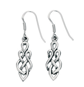 Celtic Drop Earring 925 Sterling Silver