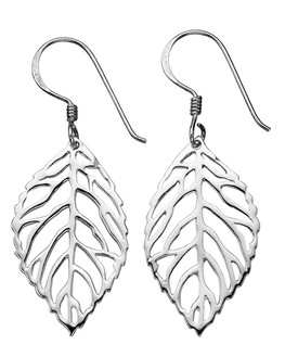 Cut Out Leaf Earring 925 Sterling Silver