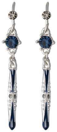 Pilgrim Russian Loving Drop Earrings Silver Plated Blue 23133-6213