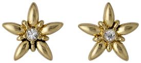 Pilgrim Divine Flower Stud Earrings Gold Plated 17133-2003