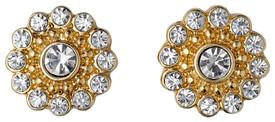 Pilgrim Cluster Stud Earrings Gold Plated Crystal 28134-2013