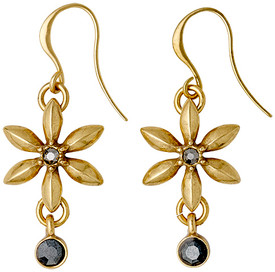 Pilgrim Gagea Flower Drop Earrings Gold Plated Crystal 22143-2113