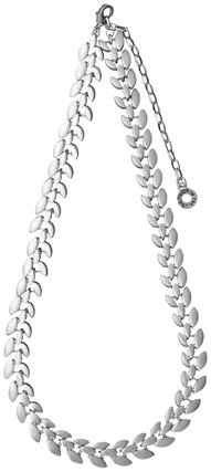 Pilgrim Classic Leaves Necklace Silver Plated 60151-6021