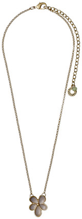 Pilgrim Floral Haze Necklace Gold Plated Sand 19152-2811 38cm + 8cm