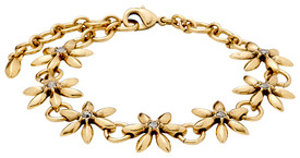 Pilgrim Gagea Flower Bracelet Gold Plated Crystal 22143-2102
