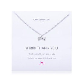Joma A Little Thank You Bridesmaid Necklace Silver Plated
