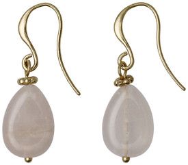 Pilgrim Summer Boho Drop Earrings Gold Plated Rose 17152-2703