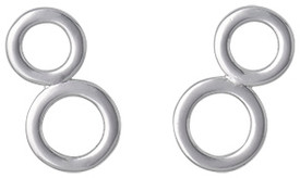 Pilgrim Ear News Stud Earrings Silver Plated 281436004