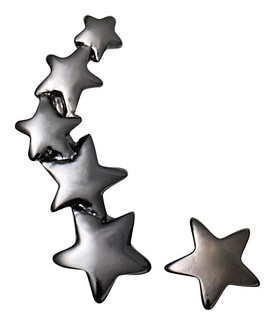 Pilgrim Cuff and Stud Star Earrings Hematite Plated 60131-3053