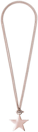 Pilgrim Chunky Star Necklace Rose Gold Plated 2 In 1 45cm/90cm 60151-4062