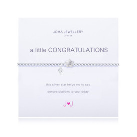 Joma A Little Congratulations Bracelet Silver Plated