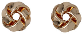 Pilgrim Knot Stud Earrings Rose Gold Plated 601534053