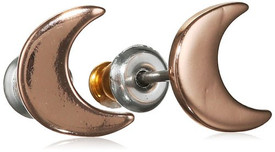 Pilgrim Half Moon Earrings Rose Gold Plated 601534083