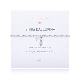 Joma A Little Ballerina Silver Plated Ballet Shoe Bracelet