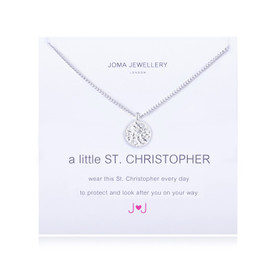Joma A Little St Christopher Necklace Silver Plated