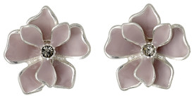 Pilgrim Sweetie Flower Stud Earrings Silver Plated Rose 221616703