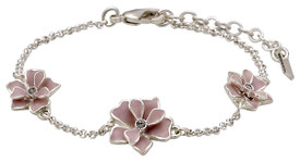 Pilgrim Sweetie Flower Bracelet Silver Plated Rose 221616702