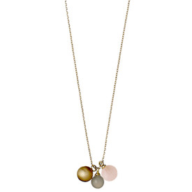 Pilgrim Lovesome Necklace Gold Plated Rose  70 cm 141612711