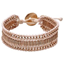 Pilgrim Verity Bracelet Rose Gold Plated Nude 211624712