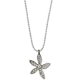 Pilgrim Flower  Necklace Silver Plated Crystal 45 + 8cm 601616051
