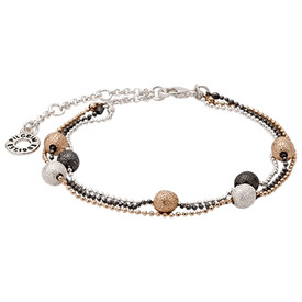 Pilgrim  Gold, Silver and Hematite Plated Bracelet 601437032