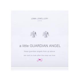 Joma A Little Guardian Angel Earrings Silver Plated