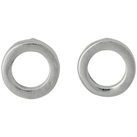 Pilgrim Circle Stud Earrings Silver Plated 601616063