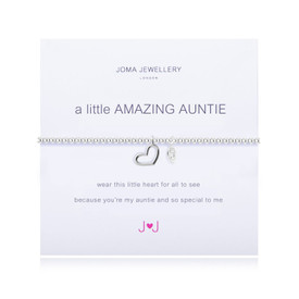 Joma A Little Amazing Auntie Bracelet Silver Plated