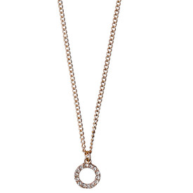 Pilgrim Necklace Rose Gold Plated Crystal 40 cm 601514011