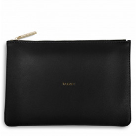 Katie Loxton 'Ta Dah!' Perfect Pouch/Clutch Bag Black