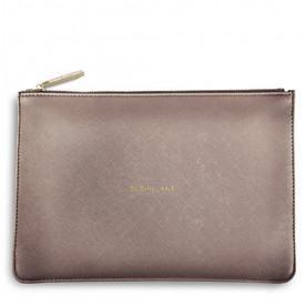 Katie Loxton 'Be Brilliant' Perfect Pouch/Clutch Bag Rose Gold