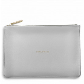 Katie Loxton 'Shine Bright' Perfect Pouch/Clutch Bag Pale Grey