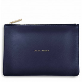 Katie Loxton 'One In A Million' Perfect Pouch/Clutch Bag Navy Blue
