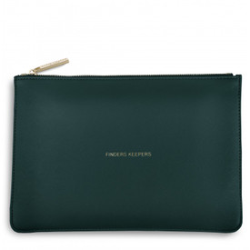 Katie Loxton 'Finders Keepers' Perfect Pouch/Clutch Bag Teal Green