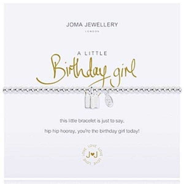 Joma A Little Birthday Girl Bracelet Gift Bag Tag