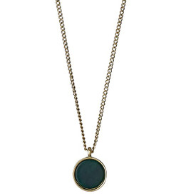 Pilgrim Trusty Necklace Gold Plated Green 40cm = 9cm 221632101