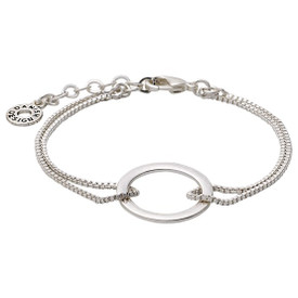 Pilgrim Shapes Circle Bracelet Silver Plated 151516002
