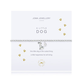 Joma A Little DOG Bracelet Silver Plated + Gift Bag/Tag