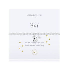 Joma A Little CAT Bracelet Silver Plated + Gift Bag/Tag