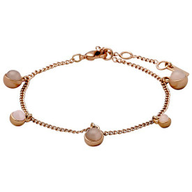 Pilgrim  Elda_PI Bracelet Rose Gold Plated Grey 141724702