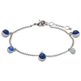 Pilgrim Elda_PI Bracelet Silver Plated Blue 141726202