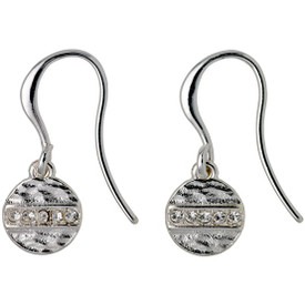 Pilgrim  Grace Drop Earrings Silver Plated Crystal 161726013
