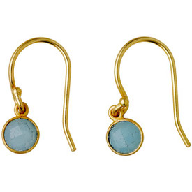 Pilgrim  Aleja Drop Earrings Gold Plated Green 181722423