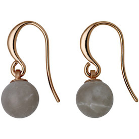 Pilgrim  Drop Earrings Rose Gold Plated Grey 281724113