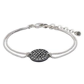 Pilgrim Bracelet Silver & Hematite Plated  151536102