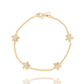 Joma Daisy Chain Gold Plated Bracelet + Gift Bag/Tag
