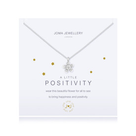 Joma A Little POSITIVITY Silver Plated Necklace + Gift Bag/Tag