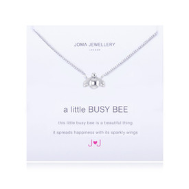 Joma A Little Busy Bee Silver Plated Necklace + Gift Bag/Tag