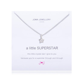 Joma A Little Superstar Silver Plated Necklace + Gift Bag/Tag