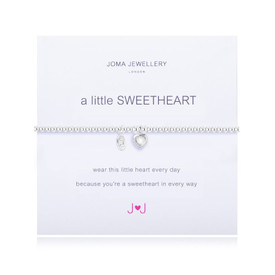 Joma A Little Sweetheart Silver Plated Bracelet + Gift Bag/Tag